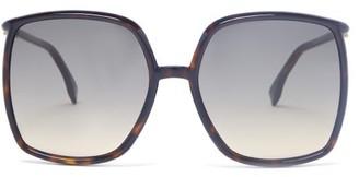 Fendi Oversized Square Acetate Sunglasses - Tortoiseshell
