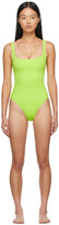 Thumbnail for your product : Nu Swim Green Pistachio One-Piece Swimsuit