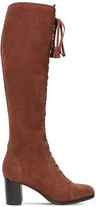 Alberta Ferretti 65mm Suede Over-the-knee Boots