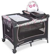 Baby Trend Lil Snooze Floral Deluxe Nursery Center Playard in Pink