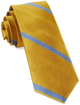 Tie Bar Goal Line Stripe Yellow Gold Tie