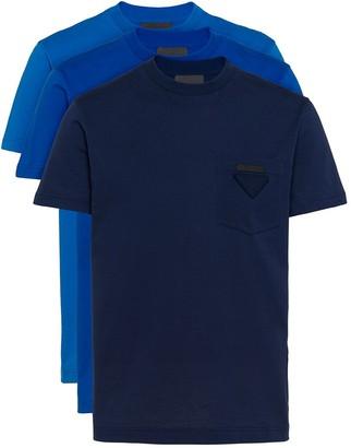 Prada three-pack logo patch T-shirt