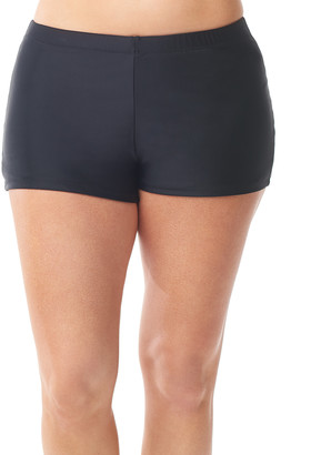 Love My Curves Women's Bikini Bottoms black - Black Boyshort Bikini Bottoms - Women