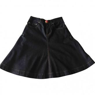 Valentino Red Blue Denim - Jeans Skirt for Women