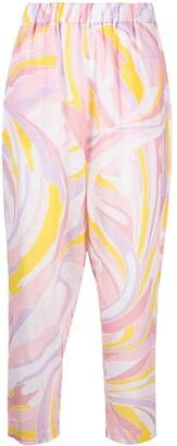 Emilio Pucci Vetrate printed cotton trousers