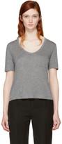Alexander Wang Grey Classic Cropped Pocket T-Shirt