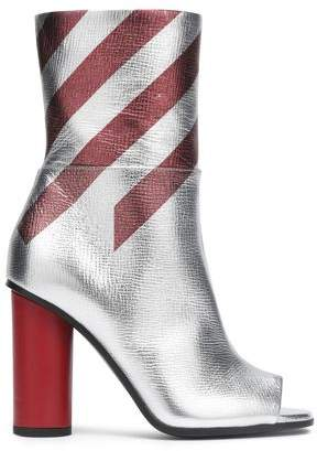 Anya Hindmarch Striped Metallic Ankle Boots