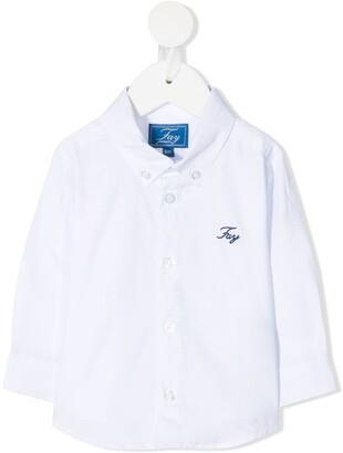 Fay Kids Button-Down Collar Shirt