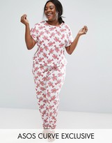 Asos Lobster Print Tee & Pajama Pants Set