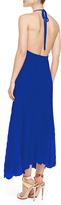 Alice + Olivia Adalyn Pleated Georgette Maxi Dress