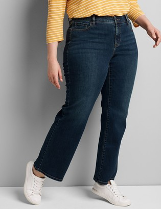 Lane Bryant Curvy Fit High-Rise Boot Jean - Dark Wash