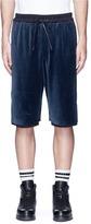 3.1 Phillip Lim Jersey underlay velour sweat shorts