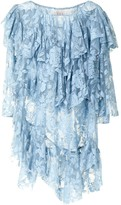 Thumbnail for your product : yuhan wang Lace-Panel Ruffled Blouse