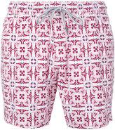 Capricode - geometric leaf print swim shorts - men - Polyamide - S