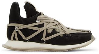 Rick Owens Black Suede Maximal Runner Sneakers
