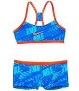 Nike Swimwear Girls' Print Racerback Two Piece Swimsuit (7yrs14yrs) - 8140051