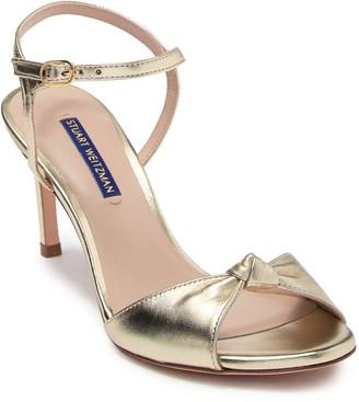 Stuart Weitzman Gloria Knotted Leather Sandal