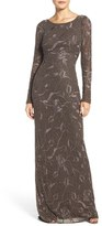 Aidan Mattox Women's Embroidered Beaded Gown