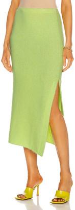The Elder Statesman Heavy Slit Skirt in Neon Yellow | FWRD