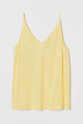 H&M V-neck Camisole Top - Yellow