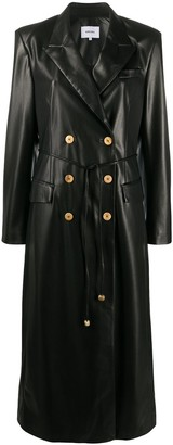 Nanushka Manila vegan leather coat