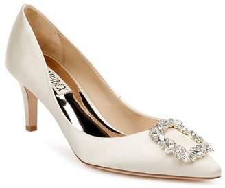 Badgley Mischka Women's Carrie Crystal-Embellished Kitten Heel Pumps