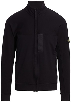 Stone Island Lightweight Fleece Zip Sweatshirt