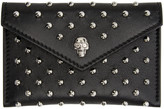 Alexander McQueen Black Studded Skull Card Holder