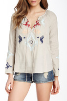 Love Stitch Embroidered Blouse