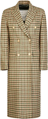 Giuliva Heritage Collection Cindy Check-Print Double-Breasted Wool Coa