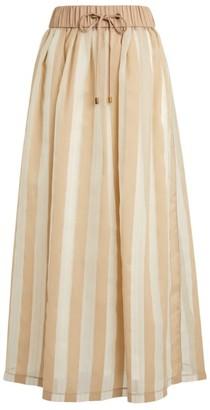 Peserico Striped Maxi Skirt