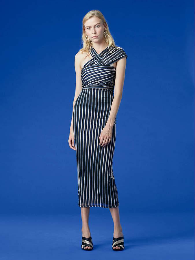 Diane von Furstenberg Strapless Draped Front Tie Dress