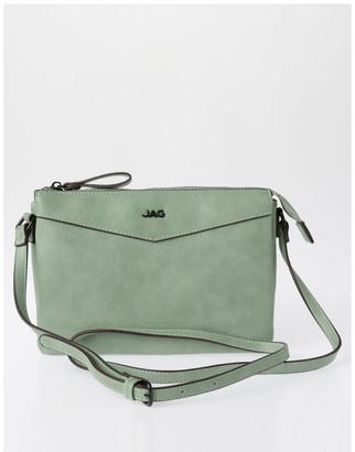 Jag Khloe Zip-Top Crossbody Bag in Sage