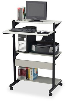 Adjustable Standing Desk Mayline Group Finish: Gray