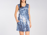 Allen Allen Crystal Wash Drawstring Tank Dress