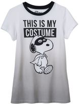 Girls 7-16 Peanuts Snoopy Halloween Ombre Graphic Tee