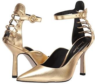 Massimo Matteo Ankle Strap Pump 20 (Gold Metallic) Women's Shoes
