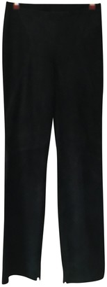 Valentino Blue Suede Trousers