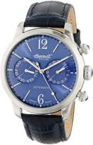 """Ingersoll Men's IN8009BL """"Outlaw"""" Stainless Steel with Dark Leather Band"""