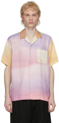 Fumito Ganryu Multicolor Watteau Pleat Shirt