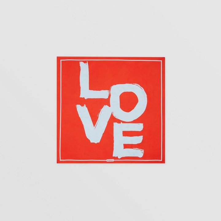Burberry Love Print Silk Square Scarf