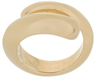Bottega Veneta sculptural swirl ring