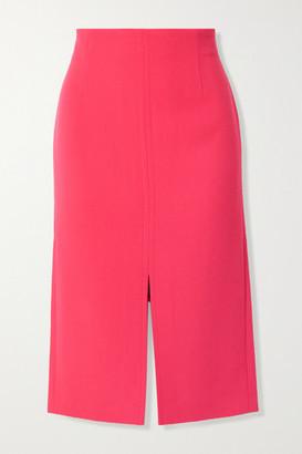 Roland Mouret Moka Wool-crepe Pencil Skirt - Fuchsia