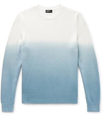 A.P.C. Skyline Degrade Cotton Sweater