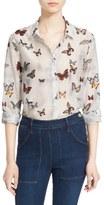The Kooples Women's Butterfly Print Cotton & Silk Shirt