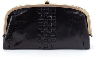 Hobo Weave Framed Leather Wallet