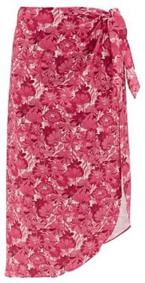 Adriana Degreas Floral-print Sarong - Pink Print