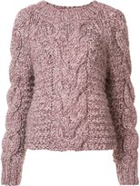 Ulla Johnson 'Francisca' cable handknit pullover