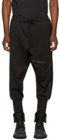 Y-3 Black Three-stripes Rib Lounge Pants