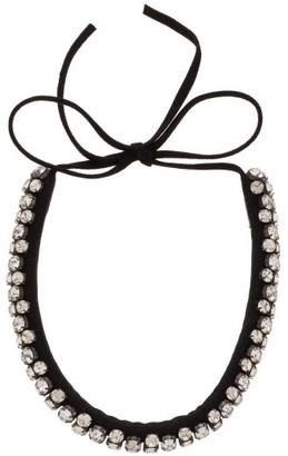 Isabel Marant Crystal-embellished Suede Necklace - Black